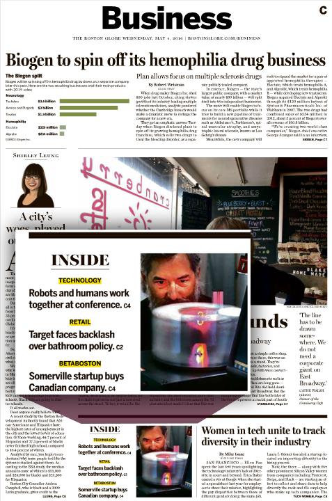 Microscan Innovators in The Boston Globe