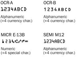 OCR Font Examples