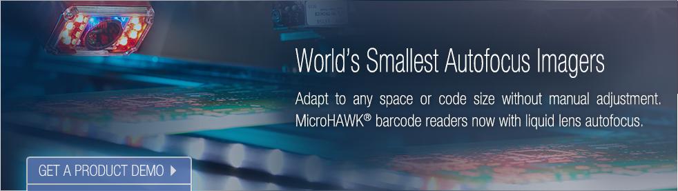 MicroHAWK Now with Liquid Lens Autofocus