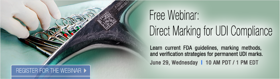 Join the Webinar: Direct Marking for UDI Compliance